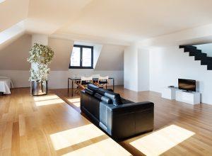 Laminátový typ podlahy v bytě
