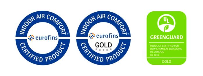 certifikáty zajišťující zdravotní nezávadnost vinylových podlah