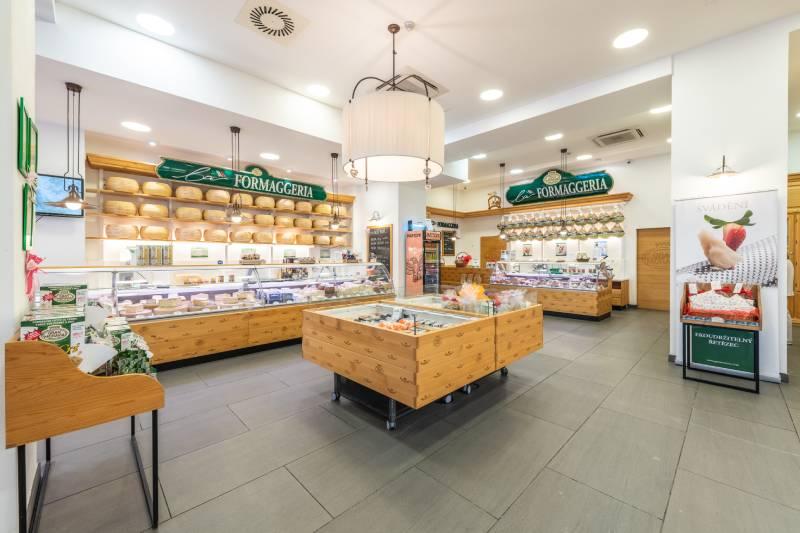 prodejna sýrů Gran Moravia La Formaggeria po rekonstrukci