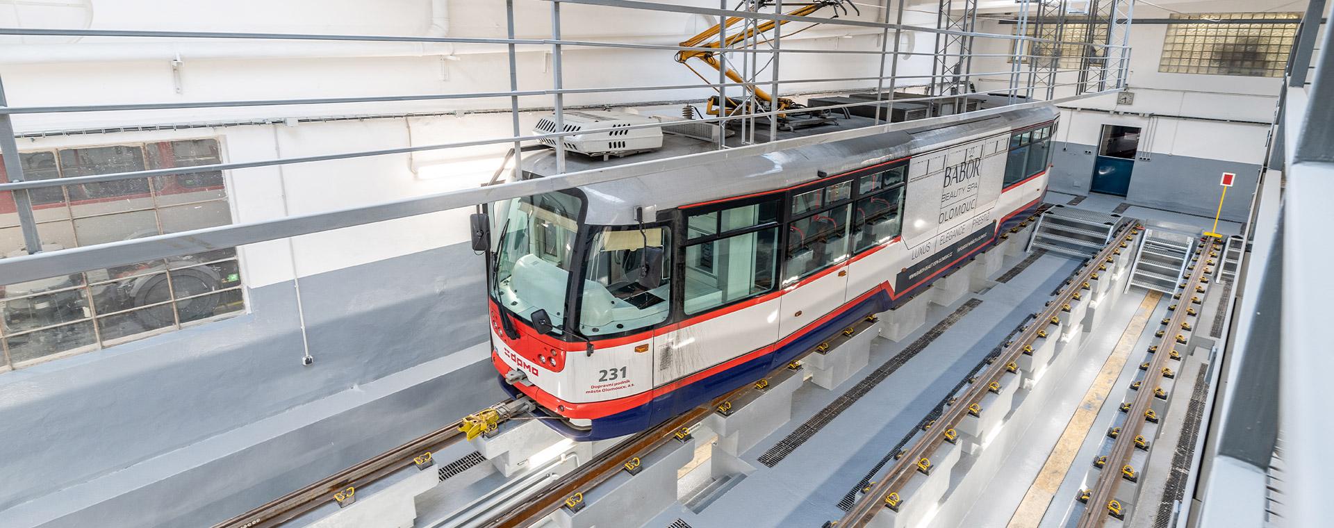 Reference: Olomoucké tramvaje parkují díky Mapei vnovém depu