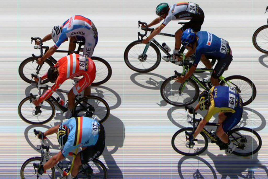 cílová rovinka Mistrovství Evropy v silniční cyklistice
